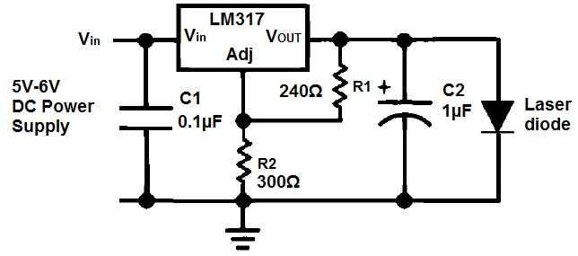 laserdiode 650nm rood 5v 5mw