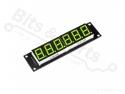 Cijferdisplay 6-digit 7-segments groen met 74HC595 driver