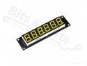 Cijferdisplay 6-digit 7-segments geel met 74HC595 driver