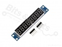Cijferdisplay 8-digit 7-segments rood met MAX7219 driver (digital tube)