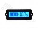 Accu capaciteits-meter/-display blauw