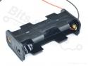Batterijbox/Batterijhouder AA Penlite x 2 (3V) klein/compact