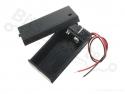 Batterijbox/Batterijhouder voor 9V blok batterij met deksel en schakelaar