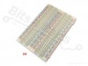 Breadboard 830 pins MB102 - universeel experimenteer board wit