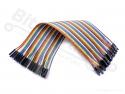 Breadboard jumper kabeltjes Dupont 20cm female/female 40x