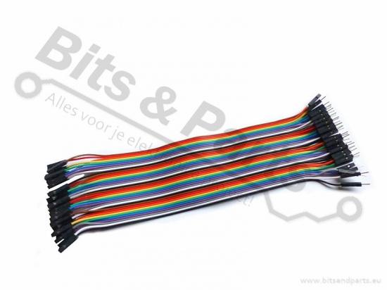 Breadboard Jumper kabeltjes Dupont 20cm SET F/F, M/F, M/M