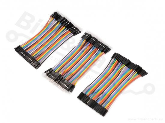Breadboard Jumper kabeltjes Dupont 10cm SET F/F, M/F, M/M