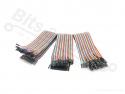 Breadboard Jumper kabeltjes Dupont 30cm SET F/F, M/F, M/M