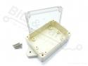 Behuizing Universeel ABS (spat)waterdicht IP66 85x58x33mm met bev.gaten