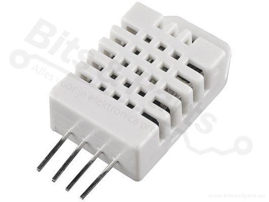 Temperatuursensor en luchtvochtigheidssensor DHT22