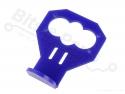 Houder/mounting bracket voor Ultrasone sensor HC-SR04 blauw