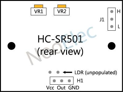 Bewegingssensor/bewegingsmelder Infrarood/IR PIR - HC-SR501