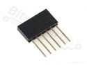 Headerpins stackable 11mm  6 pins
