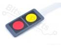 Membraan keypad 1x2 rood/geel voor oa. Arduino
