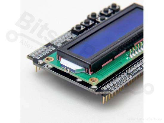 Display LCD Shield 16x2 wit/blauw met keypad/menuknoppen