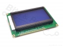 Display LCD ST7920- 128x64 pixels wit op blauw
