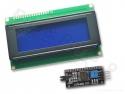 Display LCD HD44780 - 20x4 wit op blauw met I2C interface