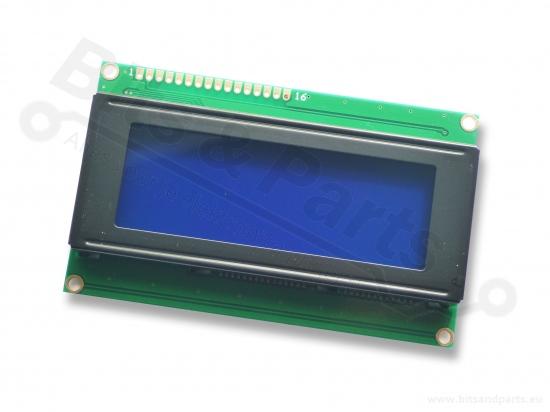 Display LCD HD44780 - 20x4 wit op blauw