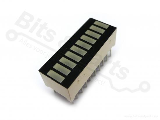 LED Balk 10 segments groen (VU-meter)