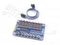 Cijferdisplay 8-Digit 7-Segments rood met 8 buttons/LEDs met TM1638 driver