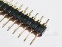 Headerpins male 40 pins goud recht