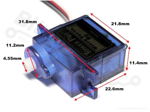 Servo motor analoog TowerPro Micro Servo 9g SG90 360°