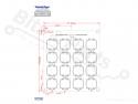 Microswitch keypad 4x4 matrix analoog