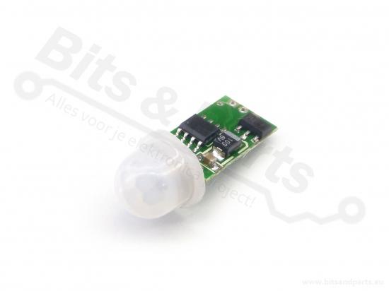 Bewegingssensor/bewegingsmelder Infrarood/IR PIR mini