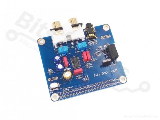Raspberry Pi PiFi DAC+ v2.0 geluidskaart voor Raspberry Pi B+/Pi 2B/Pi 3