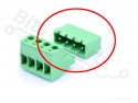 Pluggable terminal 4-pins male Dinkle 5EHDRC