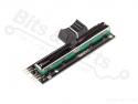 Weerstand regelbaar / potentiometer lineair 10K dubbel - 65mm zwart