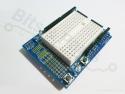 Prototype shield met mini breadboard voor Arduino