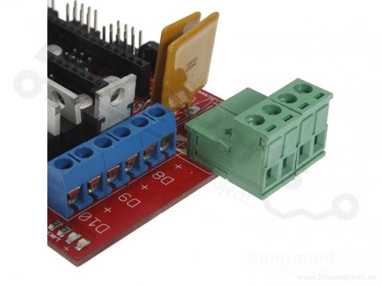 RAMPS 1.4 Shield 3D printer-controller RepRap Mendel Prusa
