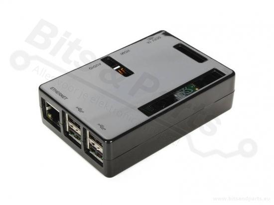 Behuizing / Case Raspberry Pi B+/2/3 ABS zwart