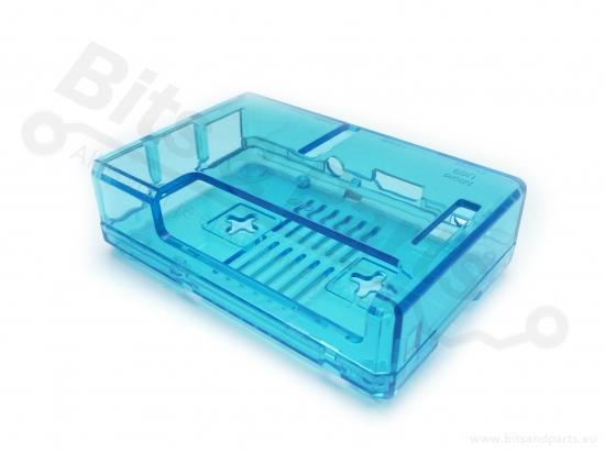 Behuizing / Case Raspberry Pi B+/2/3 ABS blauw transparant
