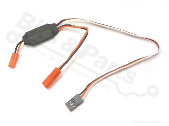 RC schakelaar/switch 1 kanaals / 2A voor oa. LEDs en LED-strips
