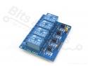 Relais board 4-kanaals 5V - optocoupled