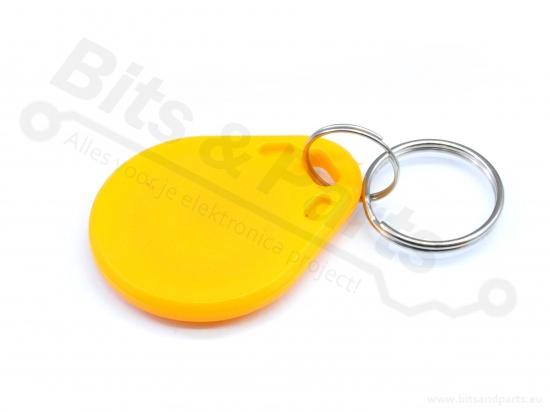 RFID Tag / Sleutelhanger 13.56MHz geel