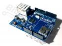 Ethernet/LAN netwerk shield W5100 SD-card reader voor Arduino