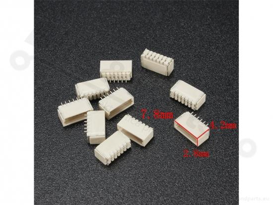 Signaalconnector 6-polig JST SH micro met draad en socket 15cm