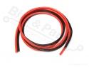 Siliconendraadset meeraderig 18AWG 0,82mm2 1 meter - rood + zwart
