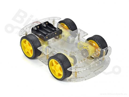 Smart Car Chassis 4WD groot met 4 motors