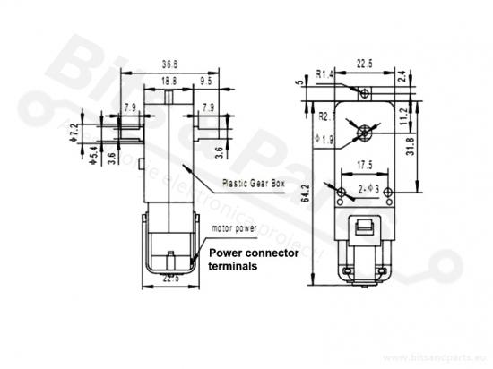 Motor voor smart cars en robots 3-6V