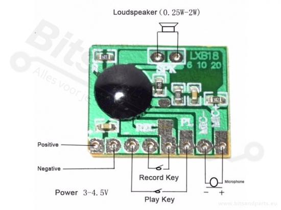 Voice recording module 6 seconden