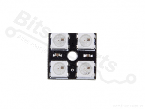 LED Board 2x2 WS2812B 5050 RGB LED met drivers