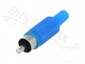 Tulp/cinch stekker male blauw