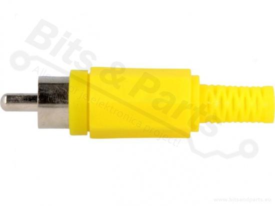 Tulp/cinch stekker male geel