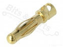 Banaanstekker/banaanplug verguld messing 4mm male 32A