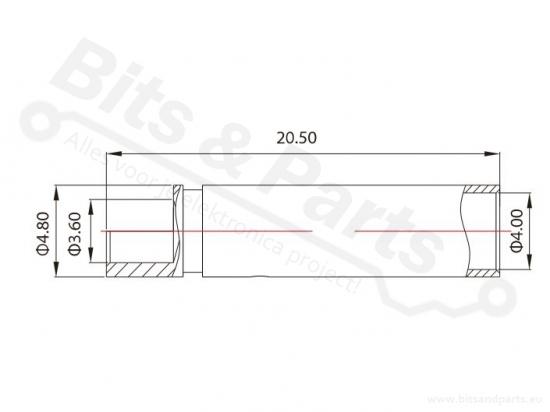 Banaanstekker/banaanplug verguld messing 4mm female 36A