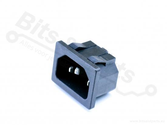 Chassisdeel/Socket C14 male snap-in